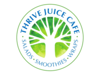 Business Logo for Thrive Juice Cafe